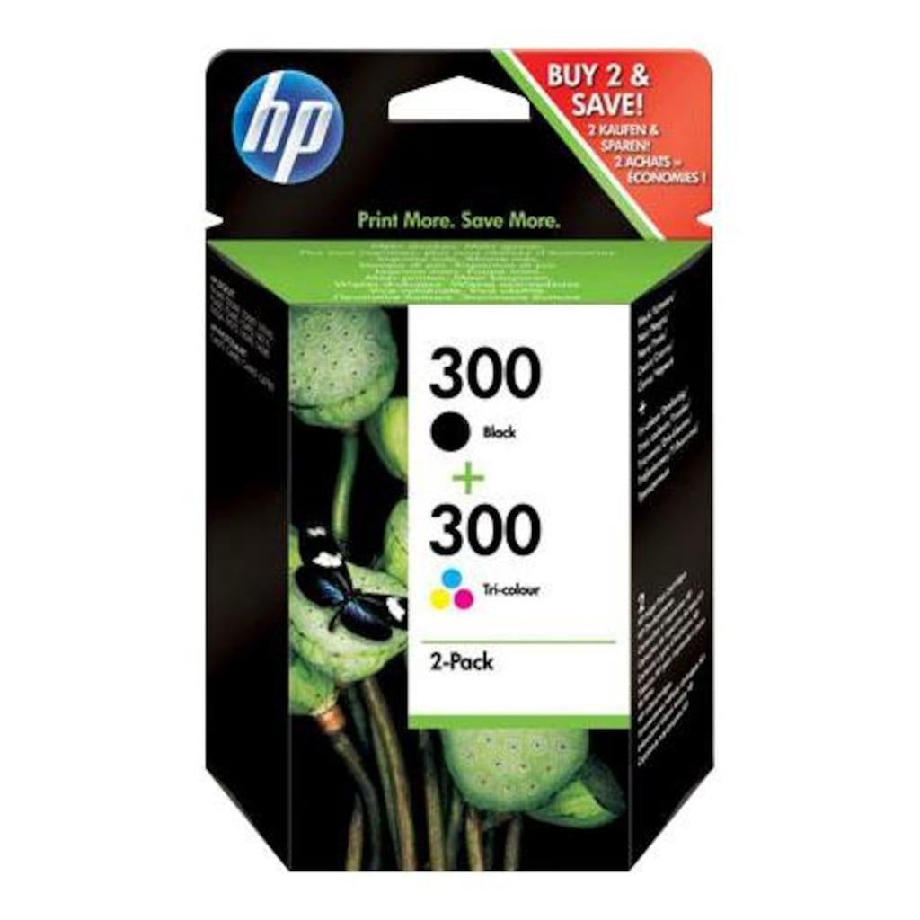 HP Tintenpatrone »hp 300 Original Kombi-Pack Schwarz, Cyan, Magenta, Gelb - CN637EE -«