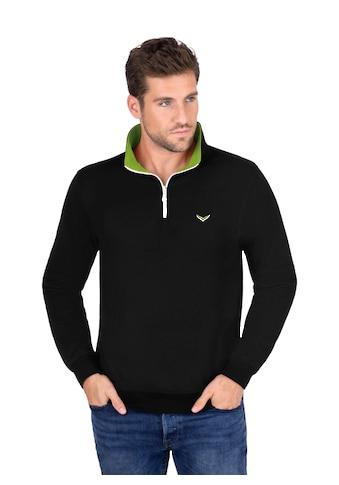 Trigema Sweatshirt, mit Kragen und Reißverschluss kaufen