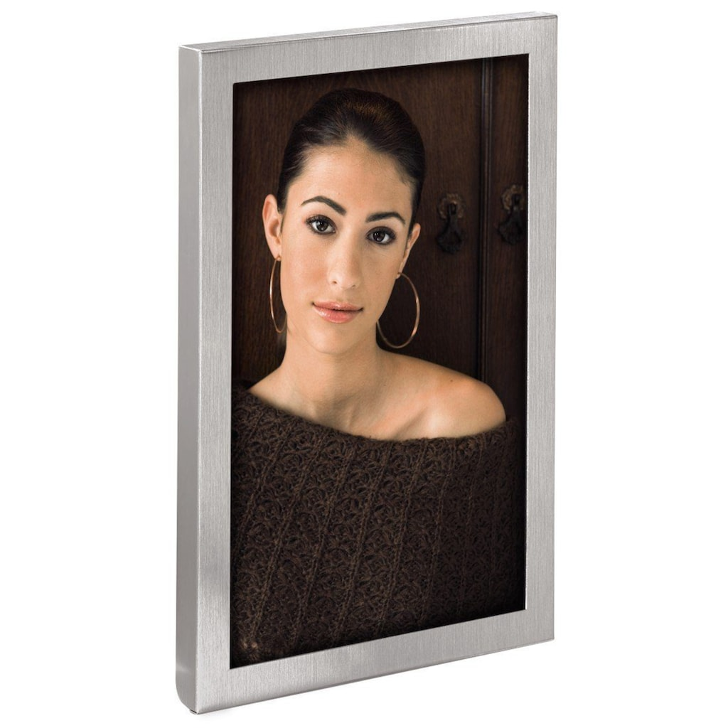 "Hama Bilderrahmen »Porträt-Bilderrahmen«, ""Bristol"", Silber, 15 x 20 cm"