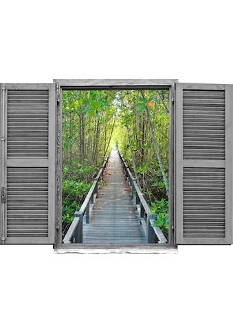 queence Wandtattoo »Brücke im Wald« kaufen