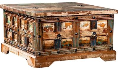 Ploß Couchtisch »Jaipur«, Aus recyceltem Altholz mit Farbresten, Shabby Chic, Vintage kaufen