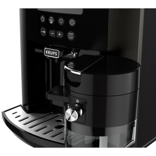Krups Kaffeevollautomat EA819E Arabica Latte Quattro Force, 1,7l Tank, Kegelmahlwerk