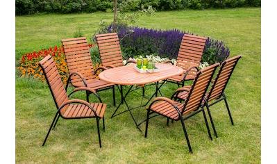MERXX Gartentisch »Schloßgarten«, Eukalyptus, klappbar, 140x90 cm, braun kaufen