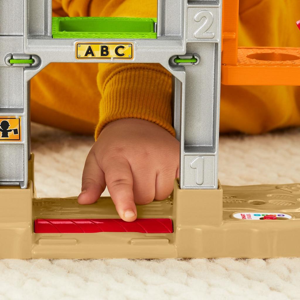 Fisher-Price® Spiel-Gebäude »Little People Baustellen Spielzeug-Set«, mit Kipplaster und Sound