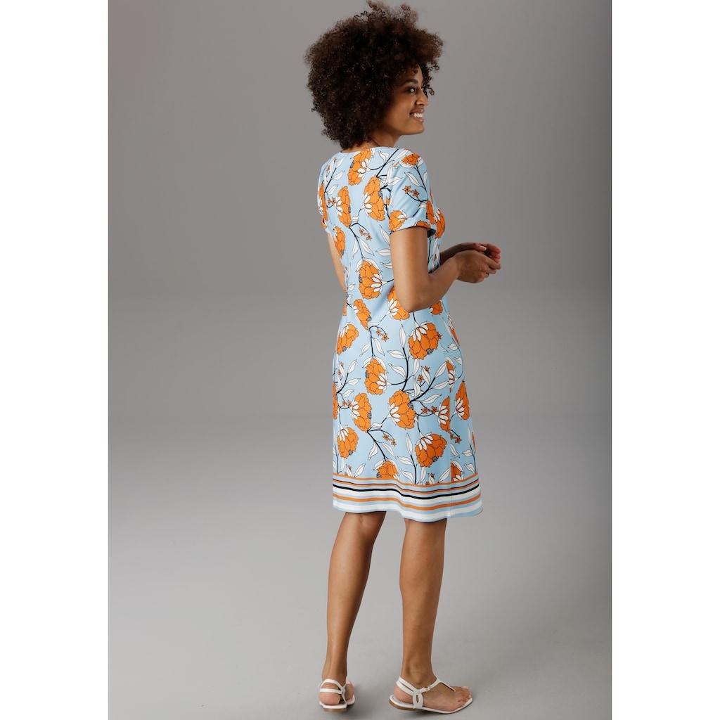 Aniston SELECTED Sommerkleid, im modischen Blumendruck - NEUE KOLLEKTION