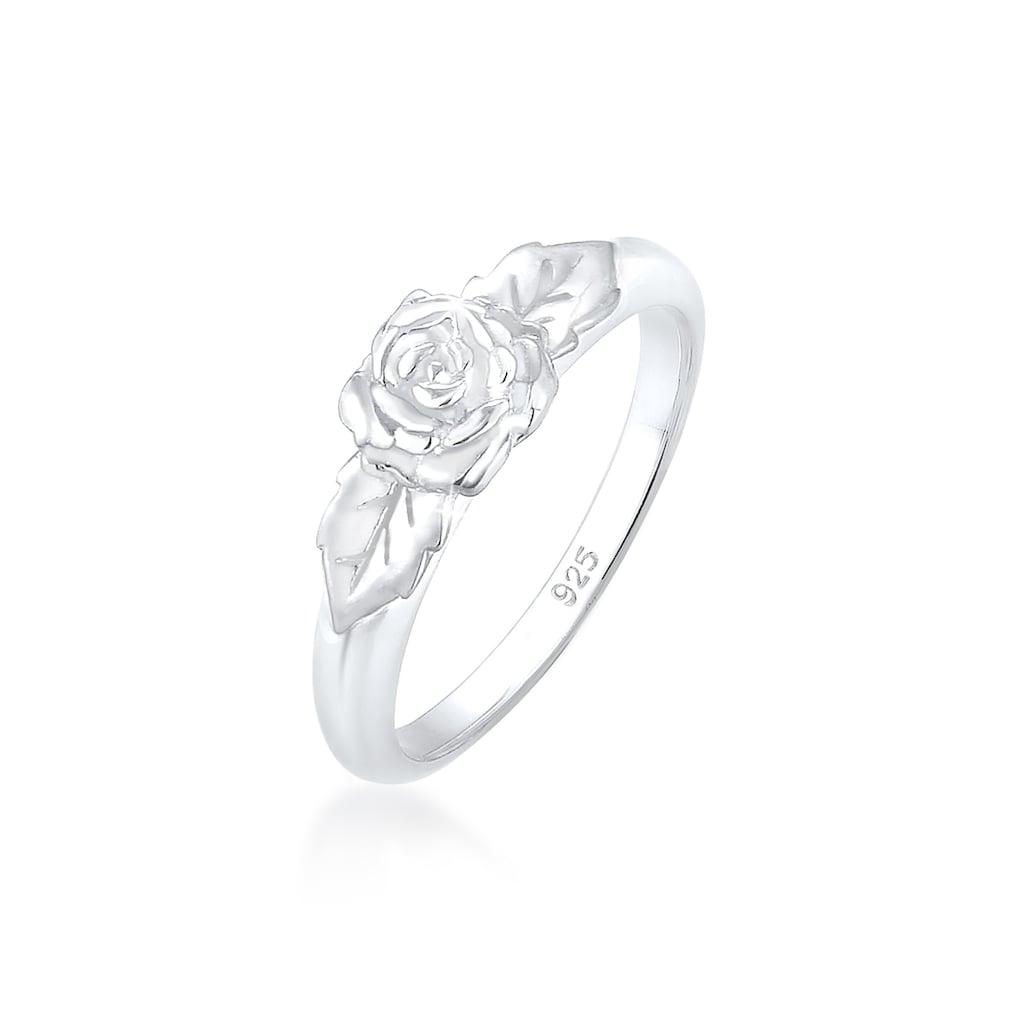 Elli Fingerring »Rosenblüte Blume Vintage Look Trend 925 Silber«