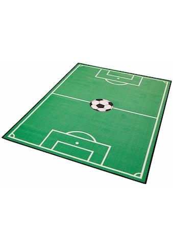 Zala Living Kinderteppich »Fußballfeld 1«, rechteckig, 8 mm Höhe, Kurzflor, Fußball... kaufen