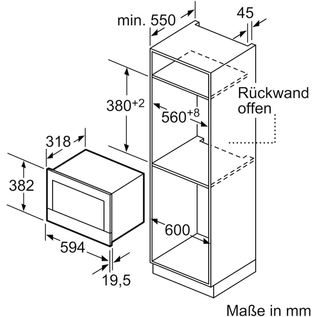 BOSCH Einbau-Mikrowelle »BFR634GW1«, Mikrowelle, 900 W
