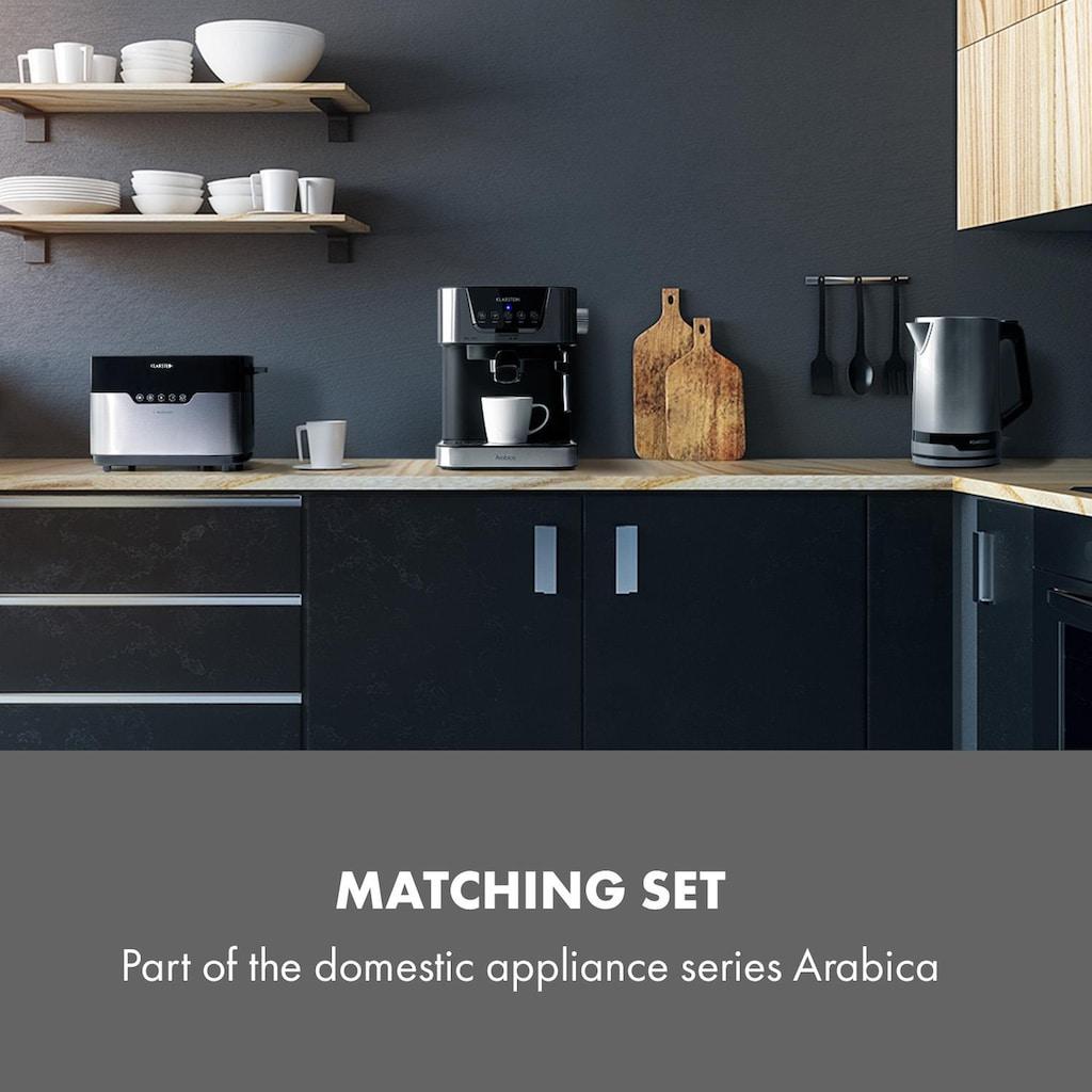 Klarstein Arabica Espressomaschine 1050W 15 Bar 1,5l Touch