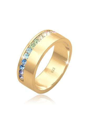 Elli Fingerring »Bandring Multi-Color Kristalle Silber« kaufen