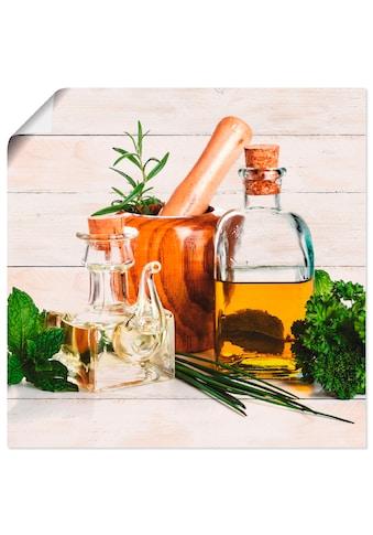Artland Wandbild »Olivenöl und Kräuter  -  Küche« kaufen