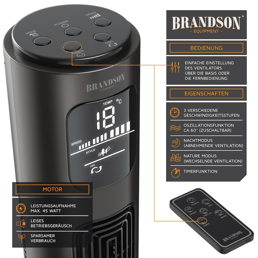 Brandson Turmventilator mit Fernbedienung, LED-Display & Oszillation