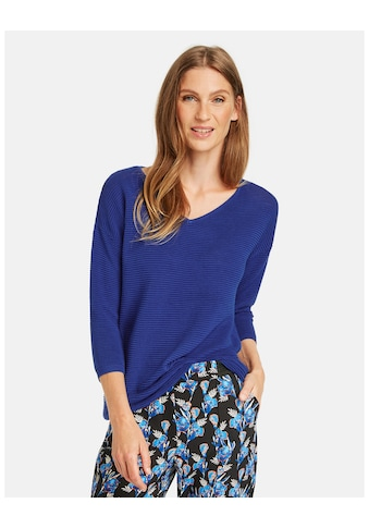 GERRY WEBER 3/4 Arm - Pullover »Quer gerippter Pullover« kaufen
