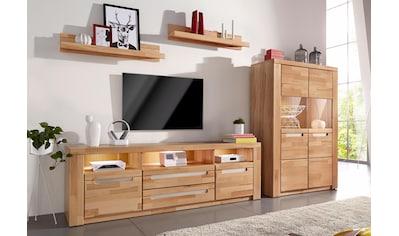 Woltra Wohnwand »Kolding«, (Set, 4 St.), teilmassives Holz kaufen