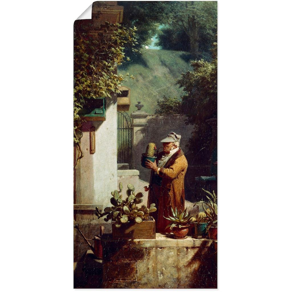 Artland Wandbild »Der Kaktusfreund. Vor 1858«, Mann, (1 St.)