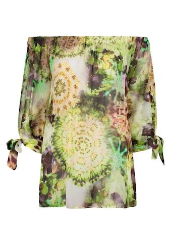 Nicowa Leichte Carmenbluse COMITA mit Batik - Design kaufen