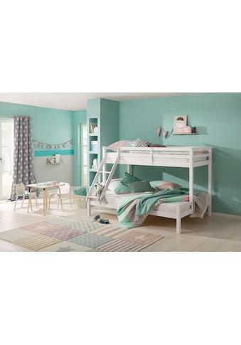 Lüttenhütt Kinderbett »Alpi«, mit 2 Schlafgelegenheiten, inklusive Lattenrost und Leiter, aus massivem Kiefernholz, Etagenbett kaufen