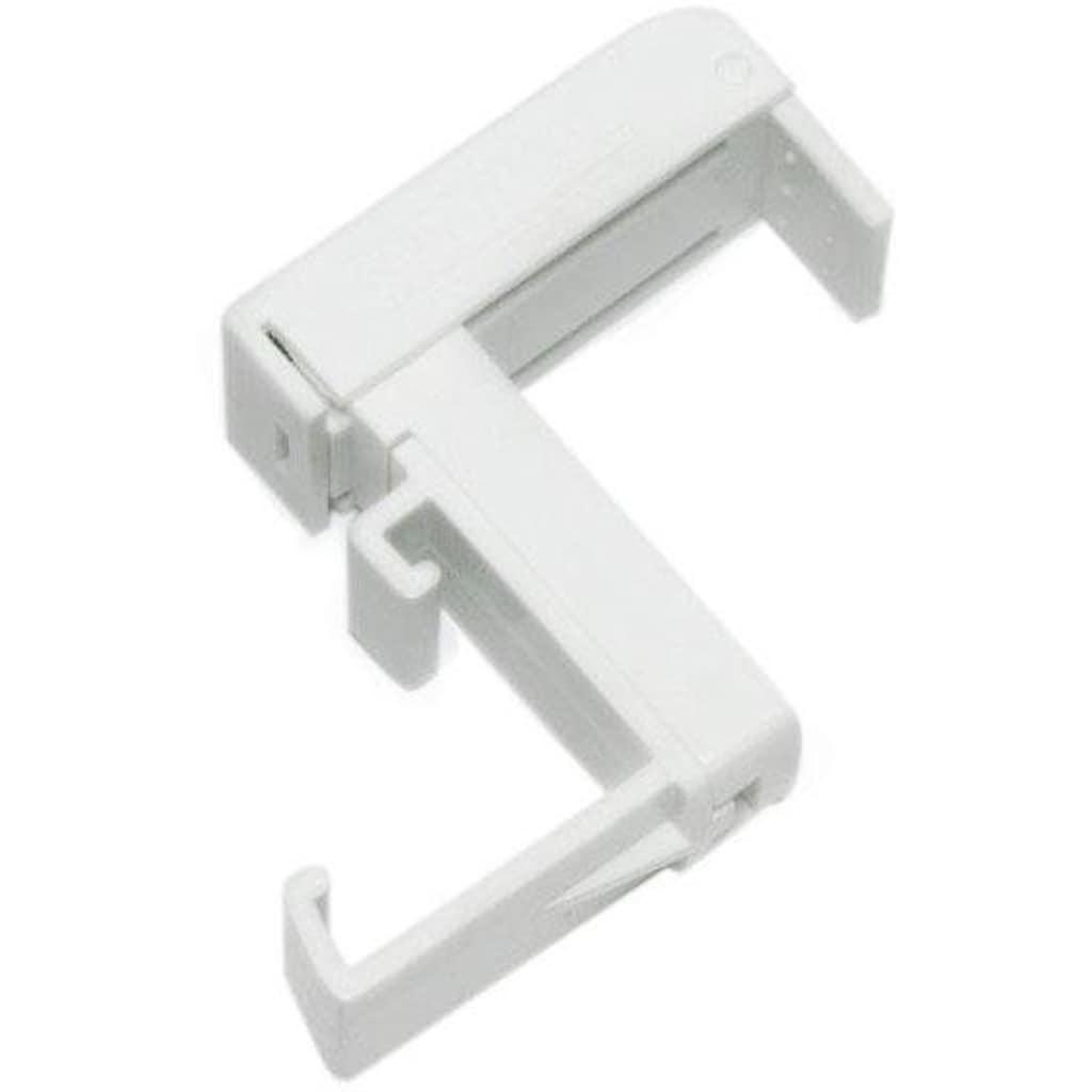 GARDINIA Sichtschutzbefestigung »Klemmträger, Kunststoff«, (2 St.), Serie Aluminium-Jalousie 25 mm