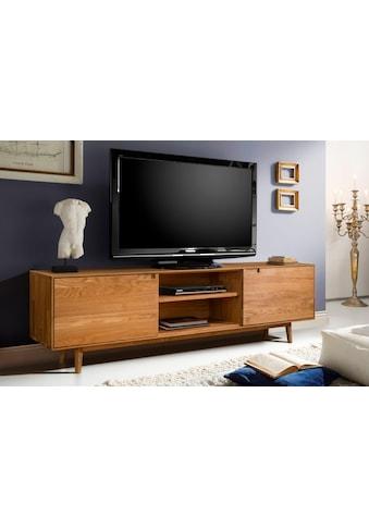 Home affaire Lowboard »Scandi«, aus massivem Eichenholz, mit sehr viel Stauraum,... kaufen