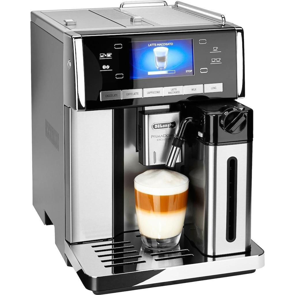 De'Longhi Kaffeevollautomat »PrimaDonna Exclusive ESAM 6900.M«, Trinkschokolade auf Knopfdruck