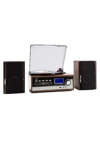 Auna Stereoanlage Plattenspieler USB MP3 Encoding CD Kassette UKW AUX »Blackwood&Deerwood« kaufen