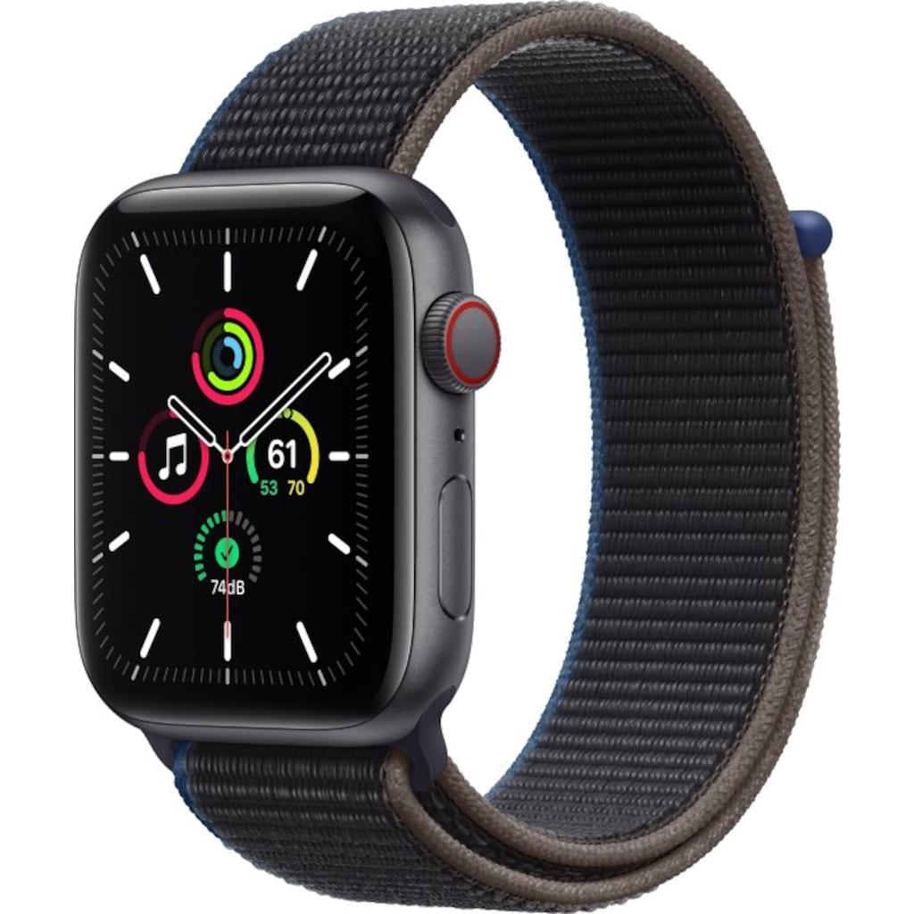Apple Smartwatch »Series SE (2021), GPS + Cellular, Aluminium-Gehäuse, 44 mm mit Sportarmband«