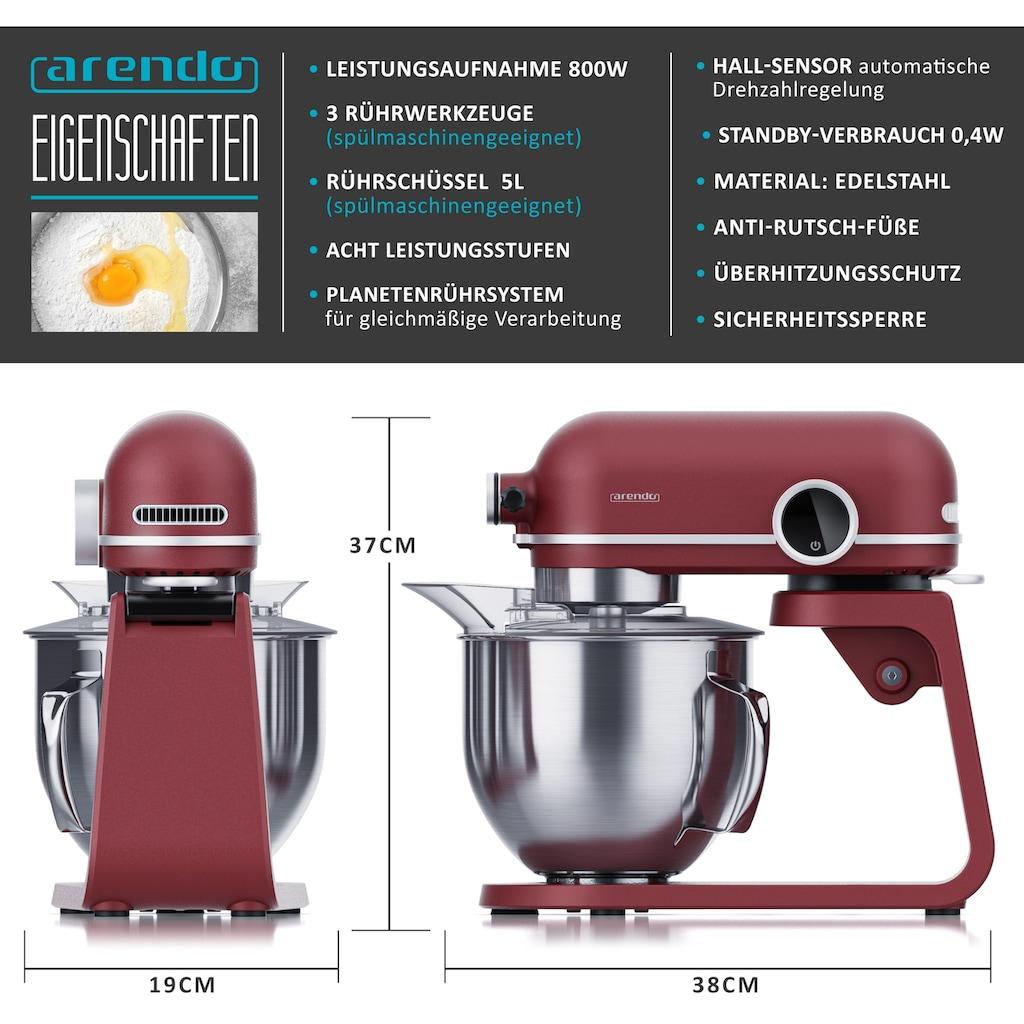 Arendo Küchenmaschine 800 W mit Display
