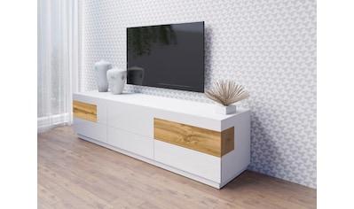 TRENDMANUFAKTUR Lowboard »SILKE«, Breite 206 cm, Hochglanzfronten kaufen