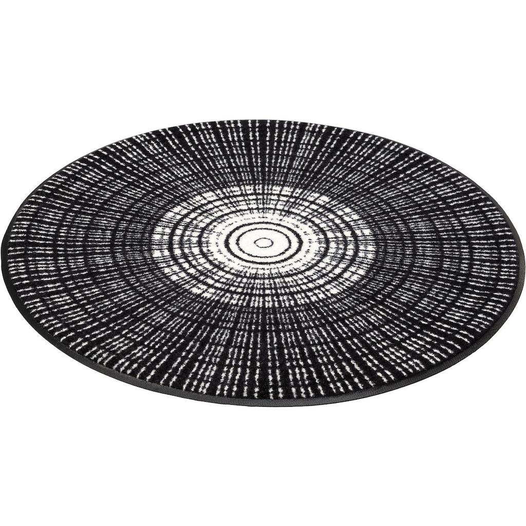 wash+dry by Kleen-Tex Teppich »Cascara«, rund, 7 mm Höhe, In- und Outdoor geeignet, waschbar, Wohnzimmer