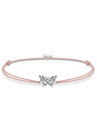 THOMAS SABO Armband »Little Secret Schmetterling, LS082-640-7-L20v«, mit Glassteinen, synth. Korund, synth. Spinell und Zirkonia kaufen