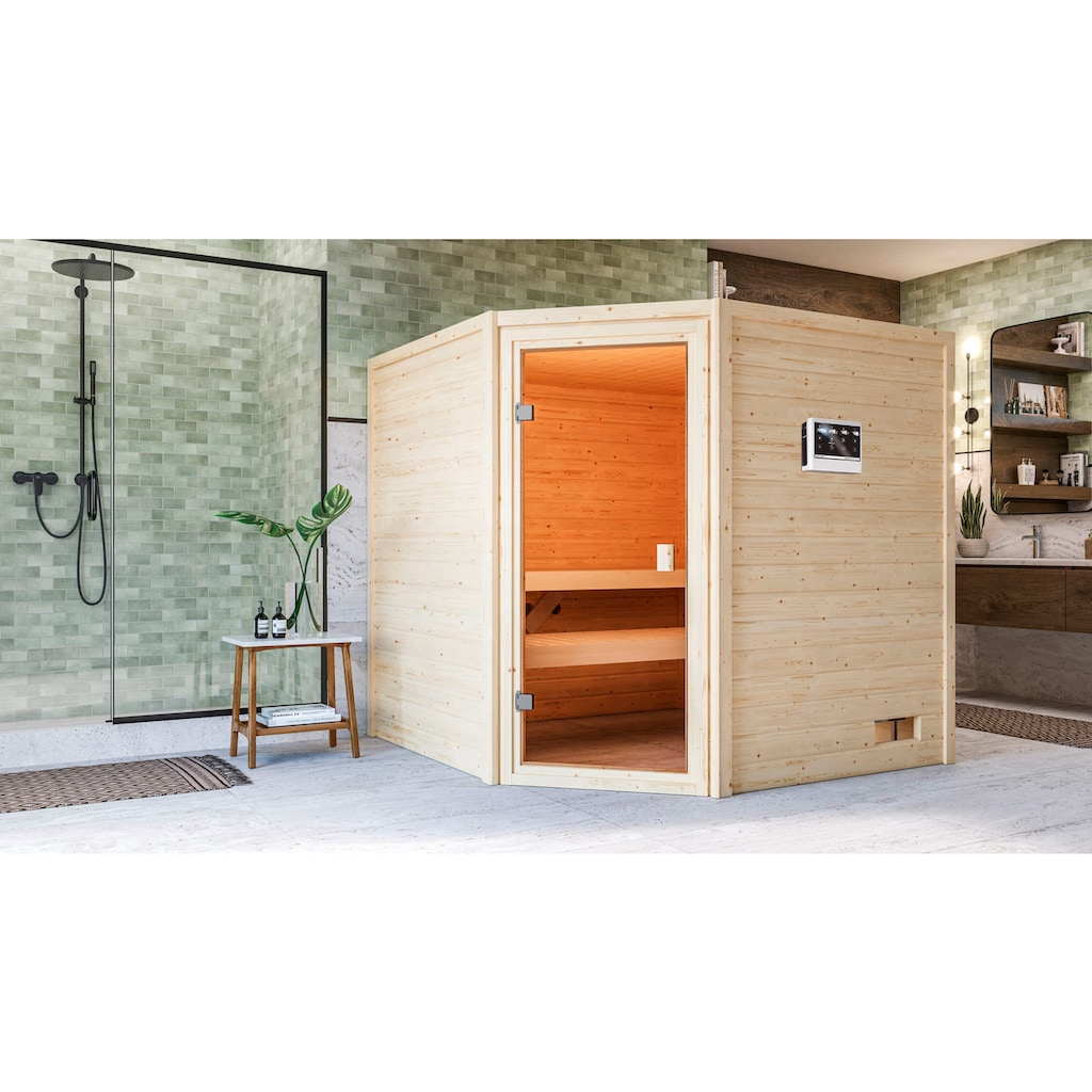 Karibu Sauna »Tami«, 4,5-kW-Bio-Ofen mit ext. Steuerung