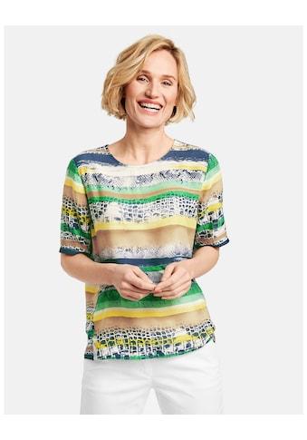 GERRY WEBER Bluse 1/2 Arm »Blusenshirt mit Mustermix« kaufen