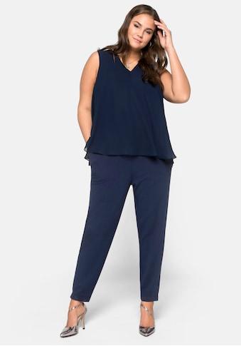 Sheego Jumpsuit, im Lagenlook kaufen