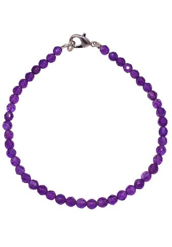 Firetti Armband »Mit runden Steinen, 4 mm breit, facettiert«, mit Amethysten, Made in... kaufen