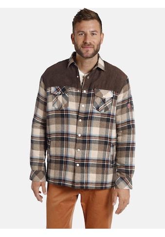 Jan Vanderstorm Outdoorhemd »PEKKO«, leicht wattiertes Karohemd kaufen