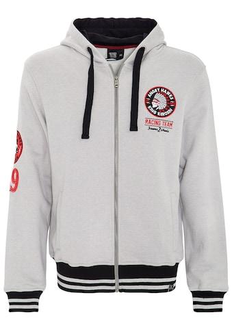 KingKerosin Sweatjacke »Angry Hawks«, mit sportlichem Zipper kaufen