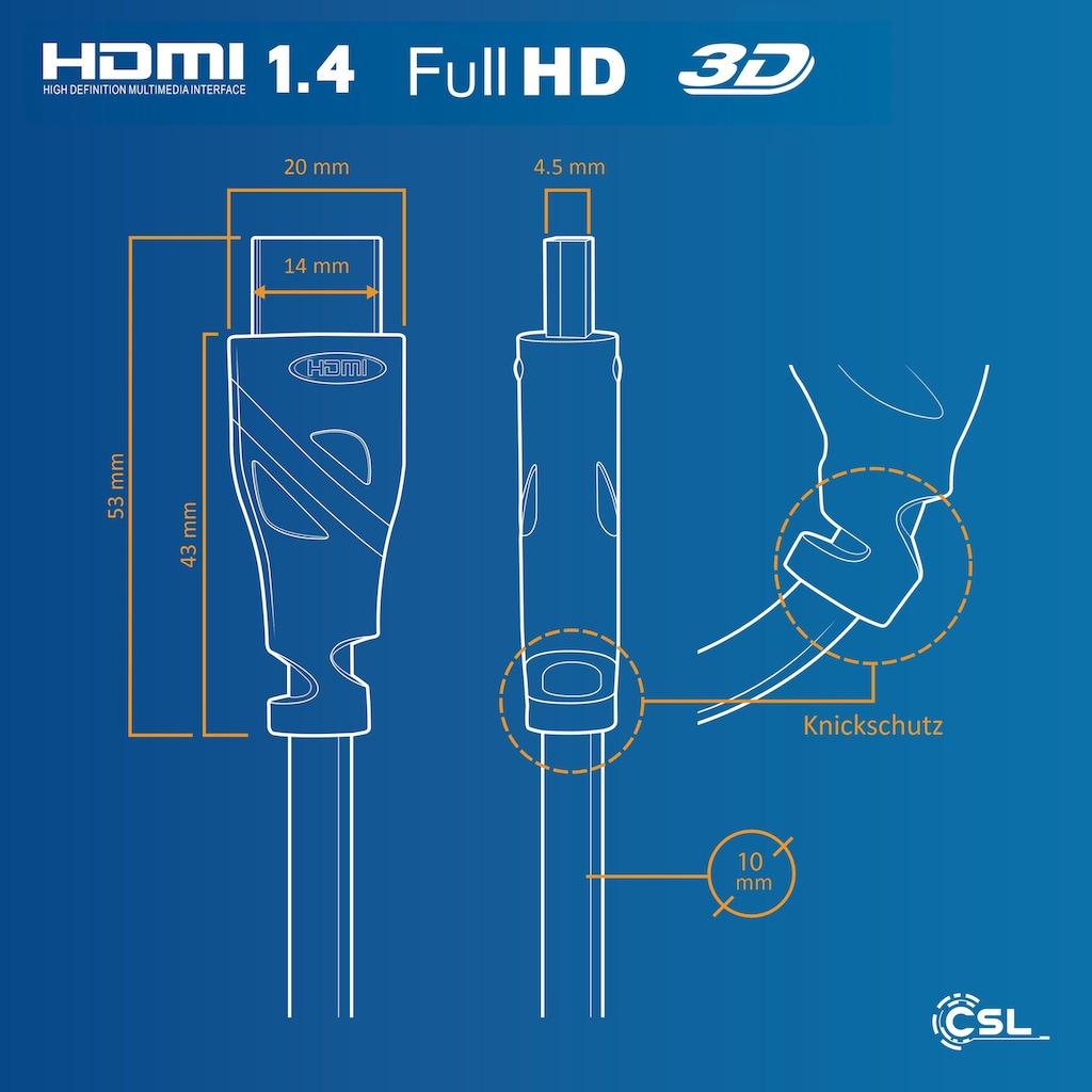 CSL HDMI 1.4 Kabel / Full HD »1080p 60Hz / 3D / ARC / High Speed mit Ethernet«