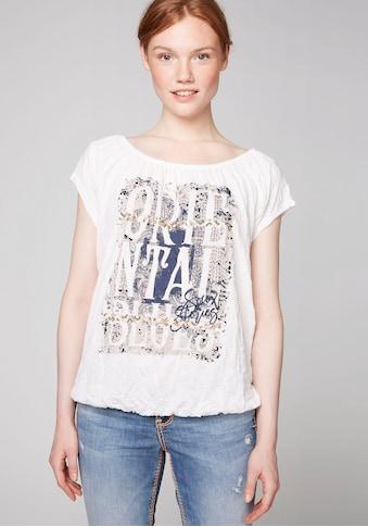 SOCCX T-Shirt, mit großem Print und Pailletten vorne kaufen