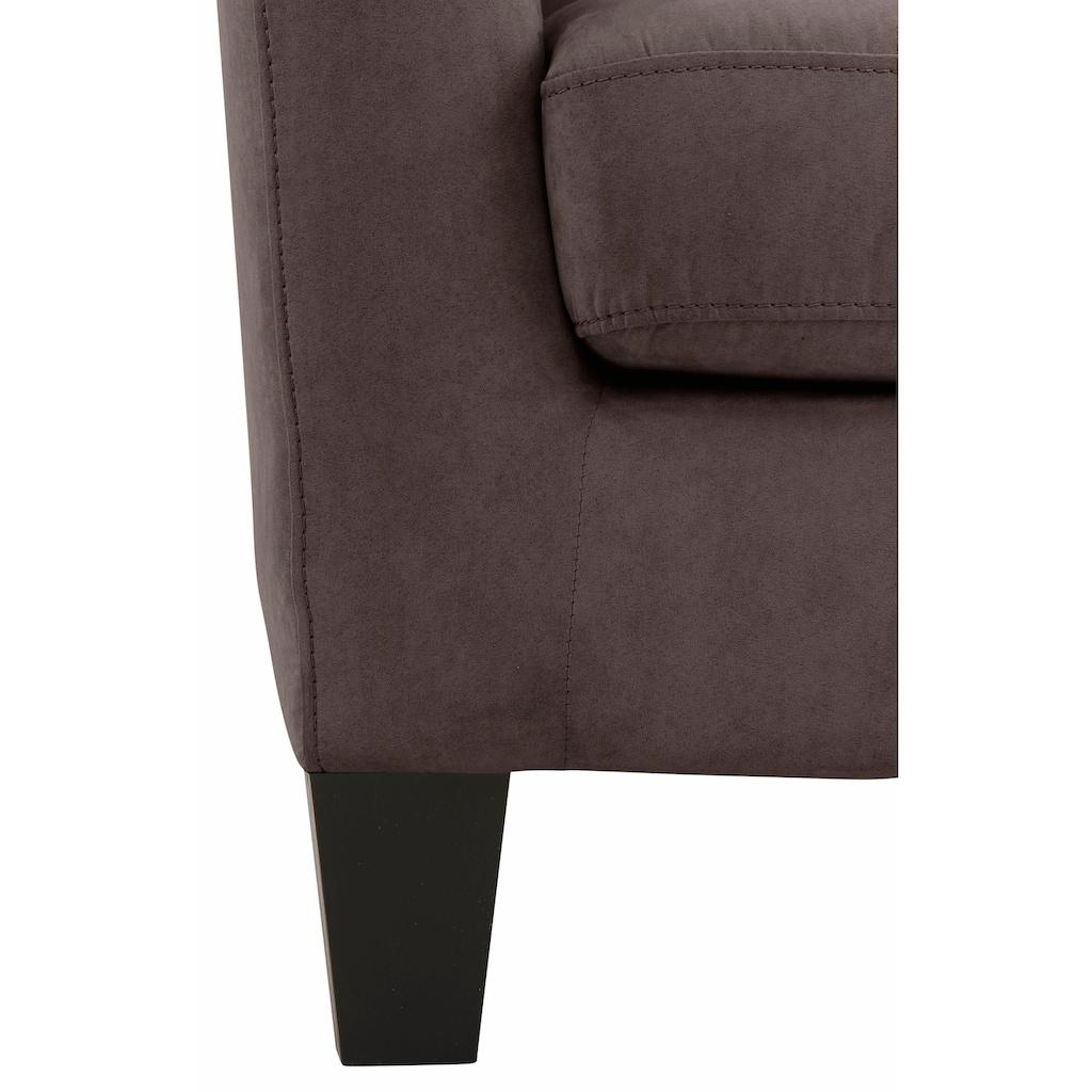 Home affaire Sessel »Chilly«, mit bequemer Federkern-Polsterung, in drei unterschiedlichen Bezugsqualitäten erhältlich, Sitzhöhe 44 cm
