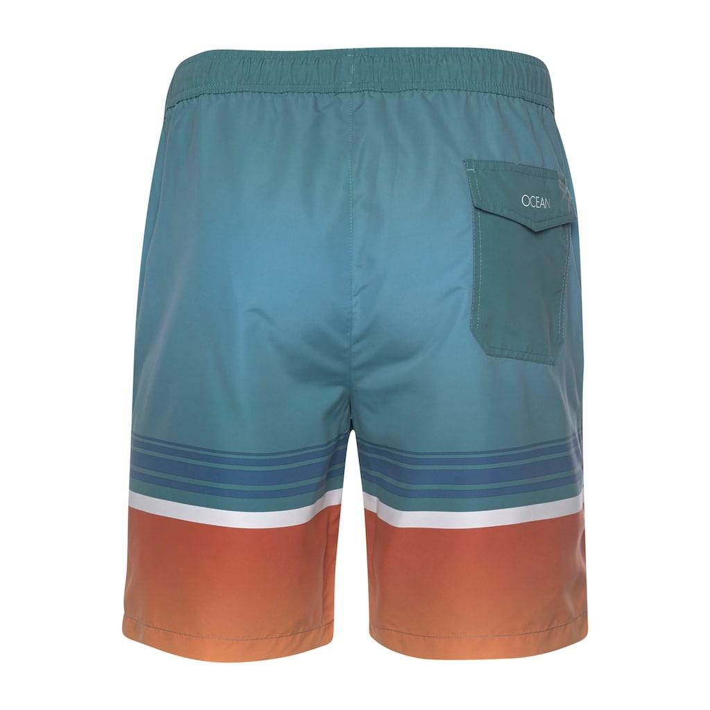 Ocean Sportswear Boardshorts »zum Baden & Surfen«, mit Blockstreifen