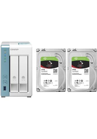 QNAP NAS-Server »Turbo NAS TS-231K«, inklusive 2x Seagate IronWolf 4TB HDD kaufen