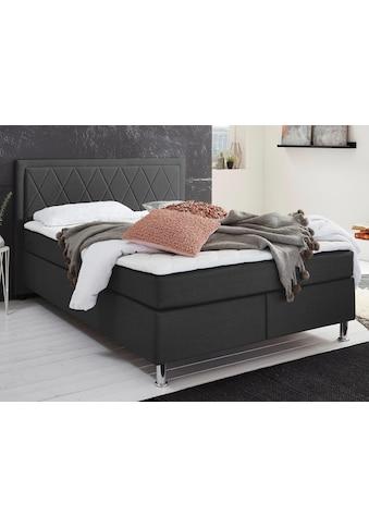 ATLANTIC home collection Boxbett, mit Tonnentaschenfederkern-Matratze und Topper, wahlweise mit Bettkasten kaufen