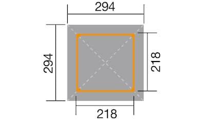 WEKA Pavillon - Set »Gartenoase«, BxT: 294x294 cm kaufen