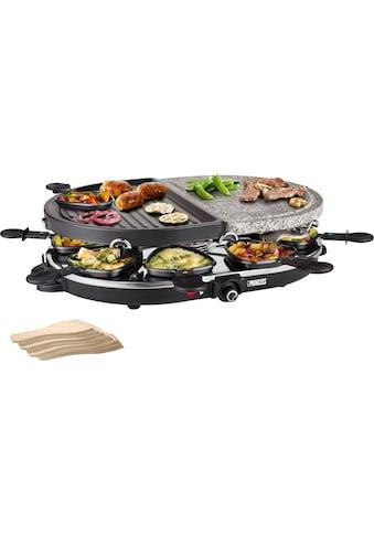 PRINCESS Raclette 8 Oval Stone & Grill Party  -  162710, 8 Raclettepfännchen, 1200 Watt kaufen