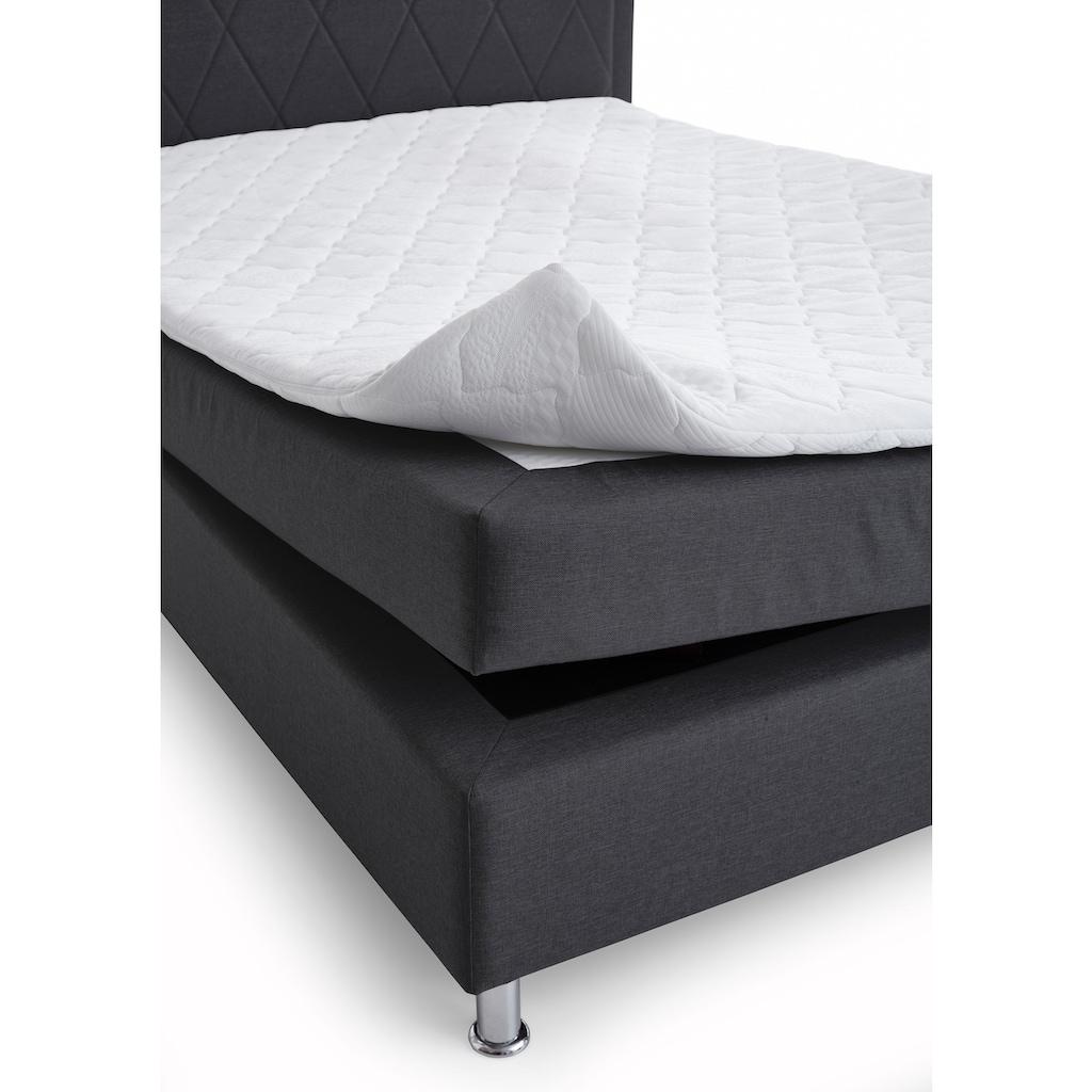 ATLANTIC home collection Boxbett, mit Tonnentaschenfederkern-Matratze und Topper, wahlweise mit Bettkasten