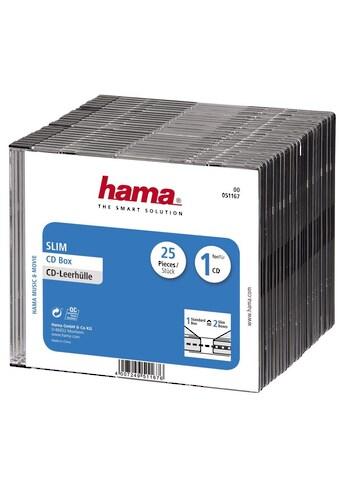 Hama CD-Leerhülle Slim, 25er-Pack, Transparent/Schwarz kaufen