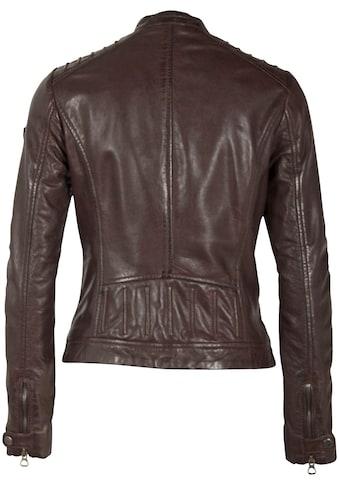 Gipsy Lederjacke »Salla«, im sportlichen Bikerjacke aus hochwertigem Lammnappaleder kaufen