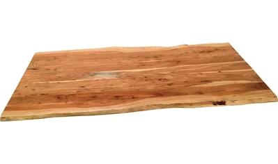 SIT Tischplatte, aus Massivholz Akazie, mit Baumkante kaufen