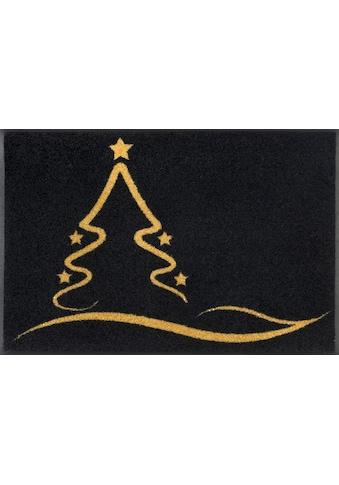 wash+dry by Kleen-Tex Fußmatte »Golden Shine«, rechteckig, 7 mm Höhe,... kaufen