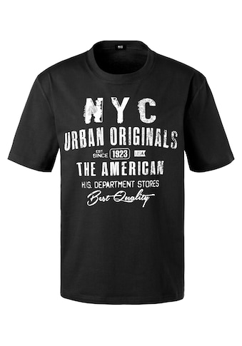H.I.S T-Shirt »Homewear«, mit NYC Frontprint kaufen